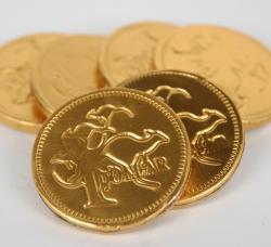 Chocolate Aust Dollar Coin